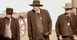 Gunfighters reenact the shootout at the OK Corral in Tombstone, Arizona