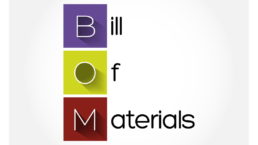 BOM - Bill Of Materials acronym, business concept background (Manufacturers and Distributors technology)