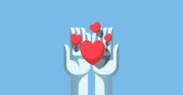 Hands sharing the love illustration
