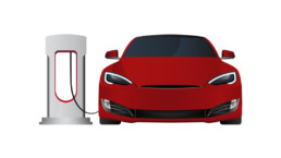 Electric car with charging station – Customer Service
